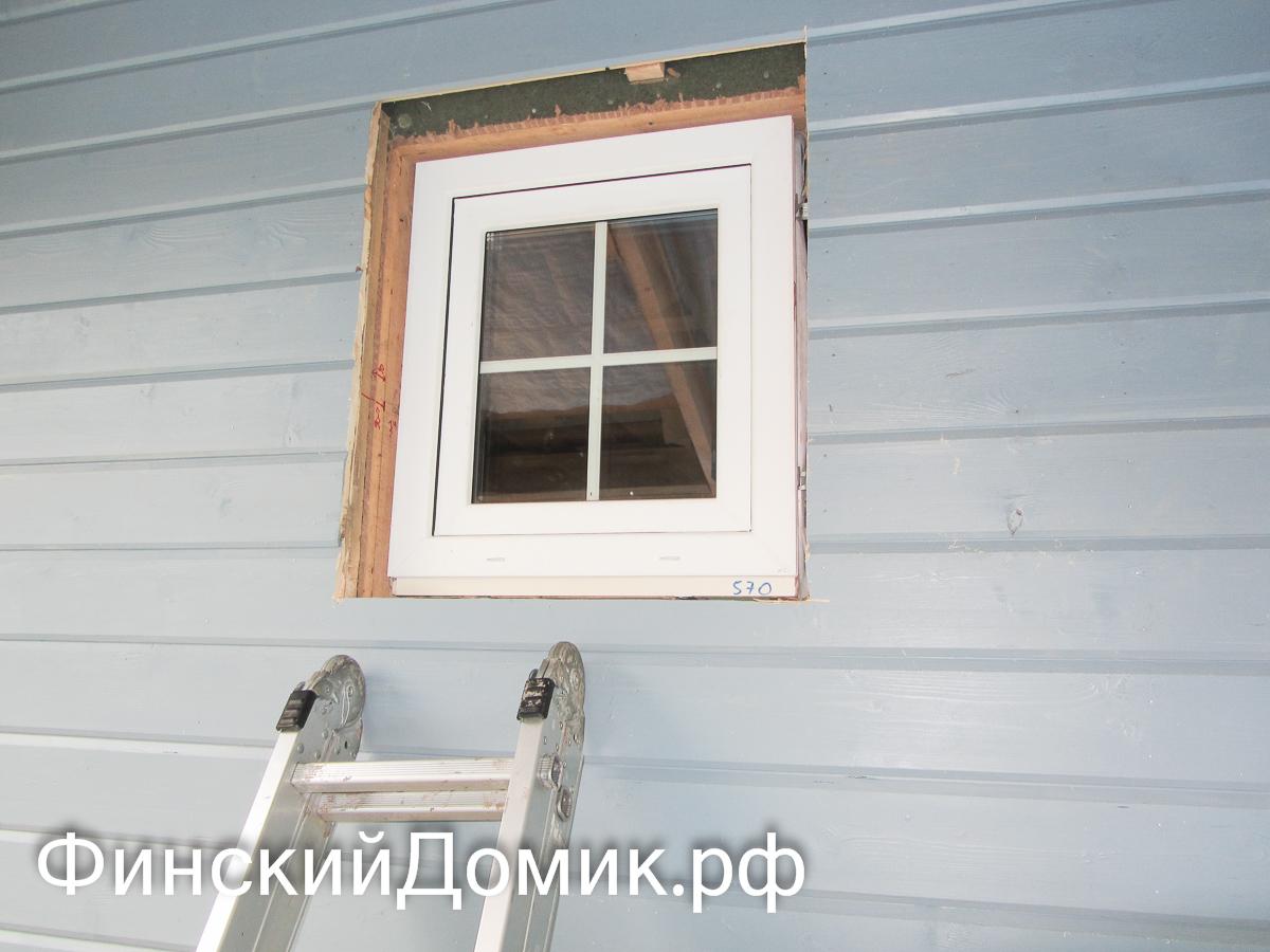 Как установить пластиковое окно в каркасном доме