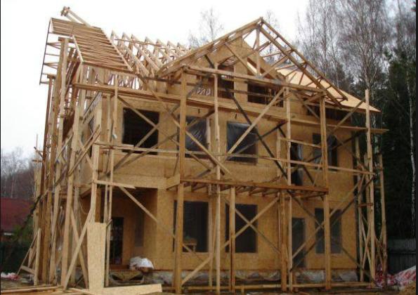 Строить дом с использованием строительных лесов, более трудоемкая задача
