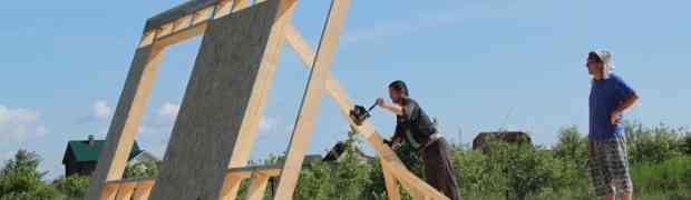 Устройство для подъема стен каркасного дома