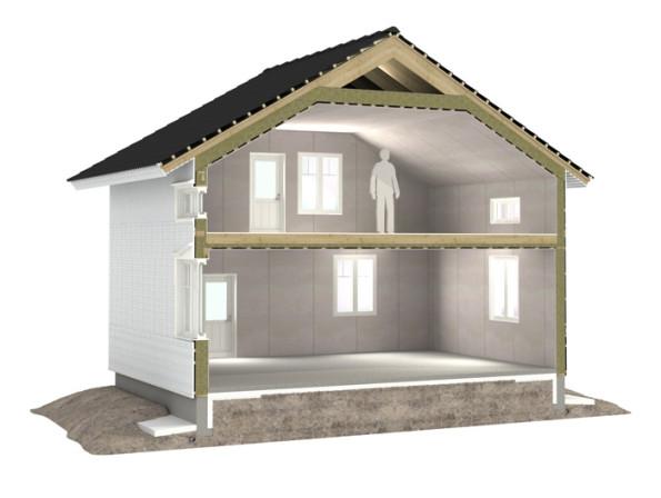 Полумансардный дом