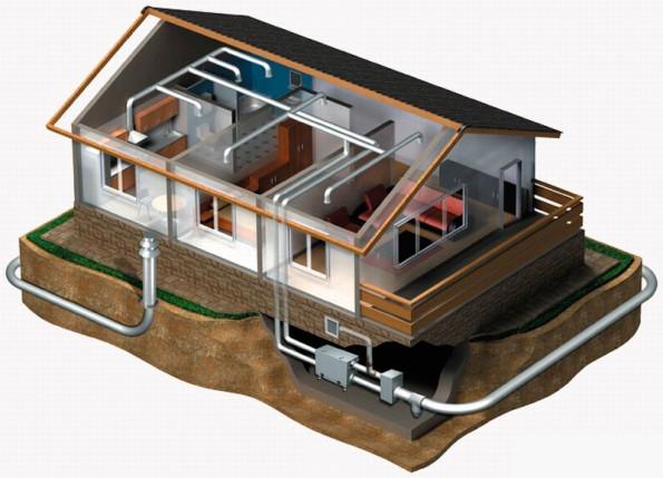Использование грунтового теплообменника, позволяет существенно снизить затраты на отопление