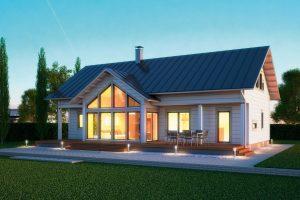 Фасад дома и наружная отделка дома