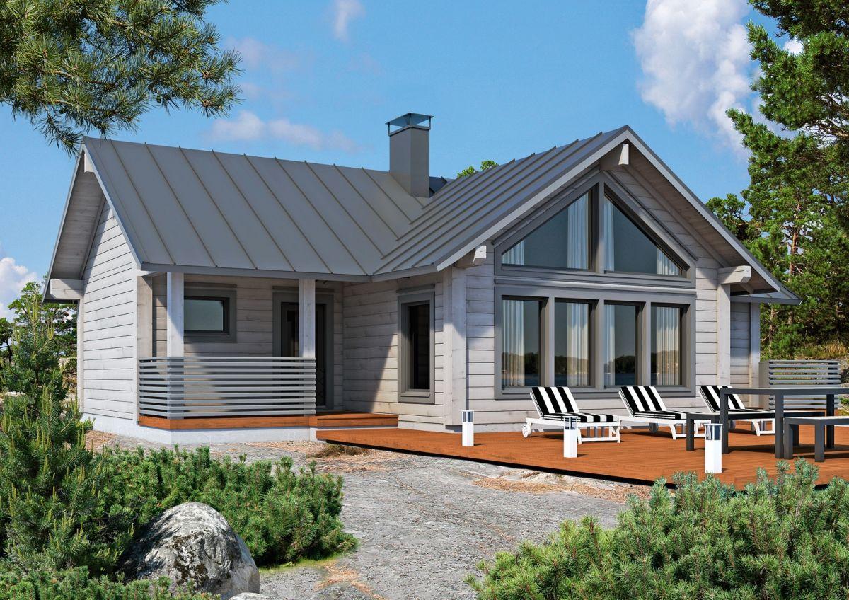 Фото домов с т образными крышами природе