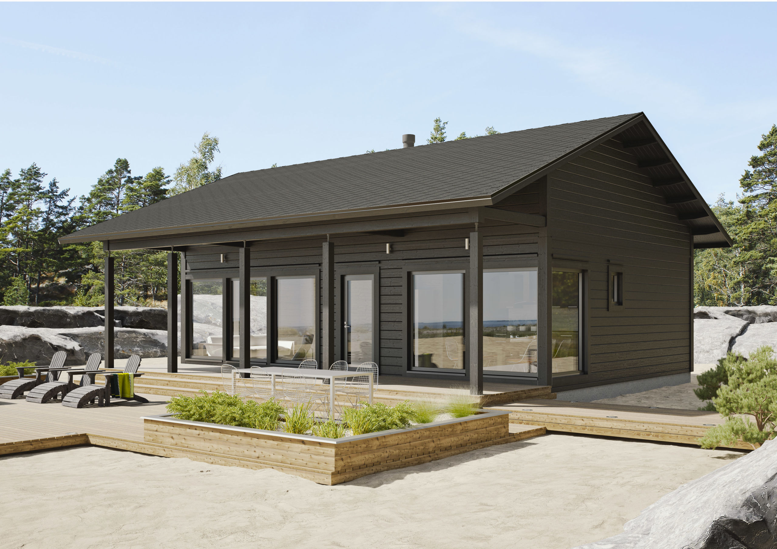 будем одноэтажный каркасный дом с террасой проекты фото приятно радоваться вместе